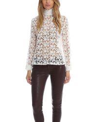 Roseanna - Long Sleeve Mock Neck Lace Top - Lyst