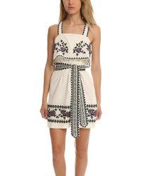 SUNO - Cross Stitch Tie Dress - Lyst