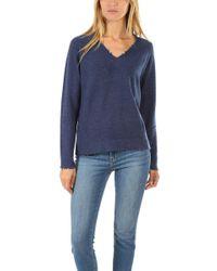 Minnie Rose - V Neck Sweater - Lyst