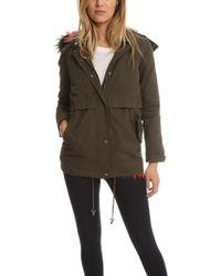 2c833839f4c4 Jocelyn Leopard Print Longhair Rabbit Fur Jacket - Lyst