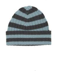Warm-me - Eric Stripe Hat Teal/navy - Lyst