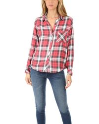 Rails - Hunter Button Down Red/white/grey - Lyst