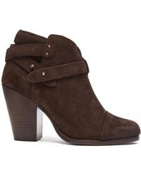 Rag & Bone | Harrow Suede Booties | Lyst