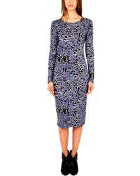 10 Crosby Derek Lam - Peri Printed Long Sleeve Dress - Lyst