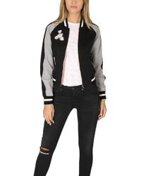 Elizabeth and James - Willa Embroidered Reversible Bomber Jacket - Lyst