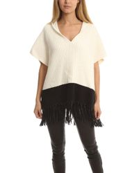 Elizabeth and James - Leather-fringe Hooded Cape - Lyst