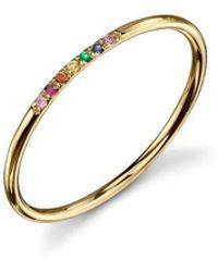 Sydney Evan - 7 Stone Rainbow Ring - Lyst