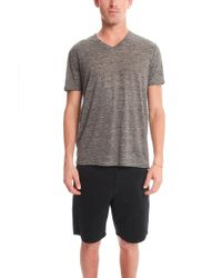 Vince - V Neck T-shirt - Lyst
