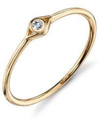 Sydney Evan - Diamond Evil Eye Ring - Lyst