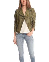 Lucien Pellat Finet - Perforated Skull Leather Jacket - - Lyst