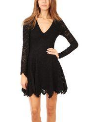 Nightcap - Deep V Flirty Spanish Lace Dress - Lyst