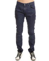 Balmain Wax Moto Jean - Blue