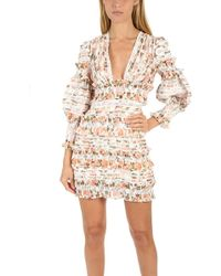 Zimmermann - Radiate Smocked Mini Dress - Lyst