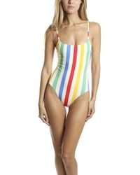 52ab4f21111f Solid   Striped - The Anne-marie Swimsuit - Lyst
