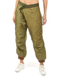 R13 - Refurbished Quilted Crossover Pant - Lyst