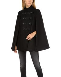 Balmain - Embellished Military Cape Black - Lyst