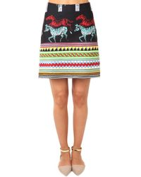 SUNO - A Line Mini Skirt - Lyst