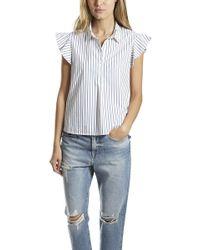 FRAME - Frame Flounce Popover Shirt - Lyst