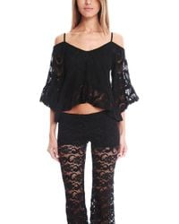 Nightcap - Crochet Ruffle Blouse - Lyst