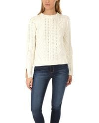 3.1 Phillip Lim - Popcorn Cable Wool Pullover - Lyst