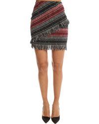 Nicholas - Tweed Fringe Miniskirt - Lyst
