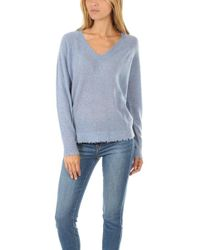 Minnie Rose - V Neck Jumper - Lyst