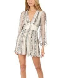 9ba066d4338 Lyst - Zimmermann Roza Silk Veil Short Jumpsuit in White