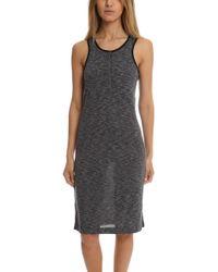 ATM - Sleeveless Melange Henley Dress - Lyst