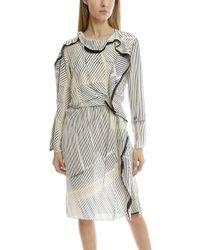 3.1 Phillip Lim - Print Silk Ruffle Dress - Lyst