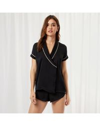 Bluebella - Kara Shirt And Short Black - Lyst
