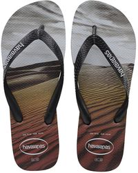 2d2fcb91fc5b31 Havaianas Surfing Print Flip Flops in Black for Men - Lyst