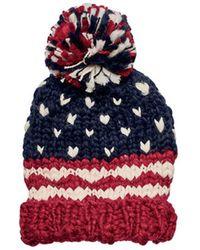 San Diego Hat Company - Women's Crochet Knit Americana Beanie Knh3453 - Lyst