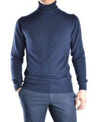 Guess | Men's Blue Wool Jumper | Lyst