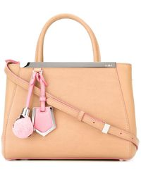 Fendi - Women's Beige Leather Handbag - Lyst