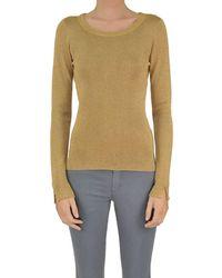 Patrizia Pepe - Women's Gold Viscose Sweater - Lyst