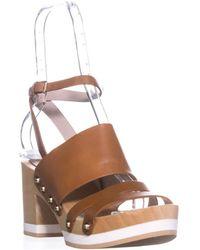 Furla - Gina Platform Clog Sandals, Naturale - Lyst