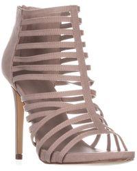 Madden Girl - Lexxx Heeled Strappy Sandals, Taupe - Lyst