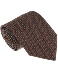 Missoni - U4527 Orange/gray Grenadine 100% Silk Tie - Lyst