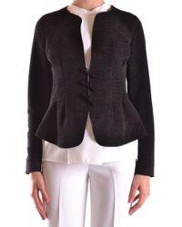 Armani - Women's Black Polyester Blazer - Lyst