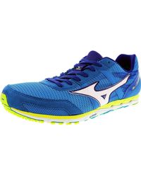 6dc356caa28e Mizuno - Wave Ekiden 10 Men Round Toe Synthetic Blue Running Shoe - Lyst