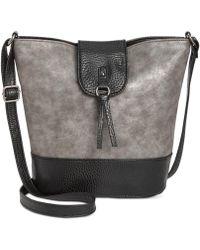 Style & Co. - . Womens Vvini Faux Leather Embossed Bucket Handbag - Lyst