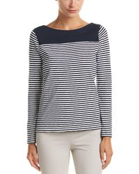 Brooks Brothers - Striped Jersey Top - Lyst