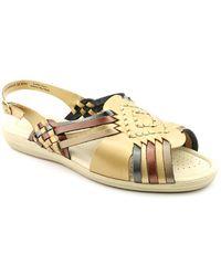 Softspots - Tela N/s Open-toe Leather Slingback Sandal - Lyst