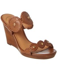 Jack Rogers - Layne Leather Wedge Sandal - Lyst