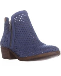 Lucky Brand - Lucky Basel3 Perforated Ankle Boots, Dark Chambray - Lyst