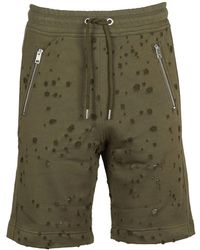 DIESEL - Men's 00sdn10aasg51f Green Cotton Shorts - Lyst