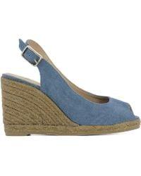 Castaner - Women's Beli832540 Light Blue Fabric Wedges - Lyst