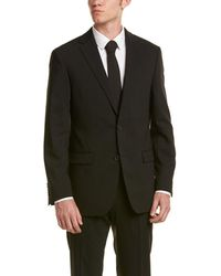 Ike Behar - 2pc Wool Smart Suit With Flat Front Pant - Lyst