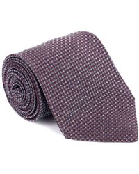 Tom Ford - Mens Burgundy Silk Blend Micro Square 4 Inch Wide Neck Tie - Lyst