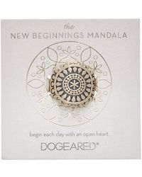 Dogeared - Mandala Collection Silver Ring - Lyst